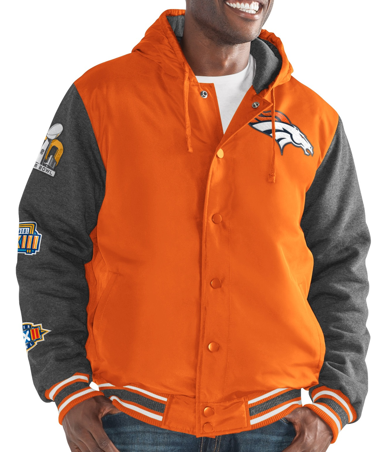 "Denver Broncos G-III NFL ""Top Brass"" Men's Premium Varsity Jacket by G-III Sports"