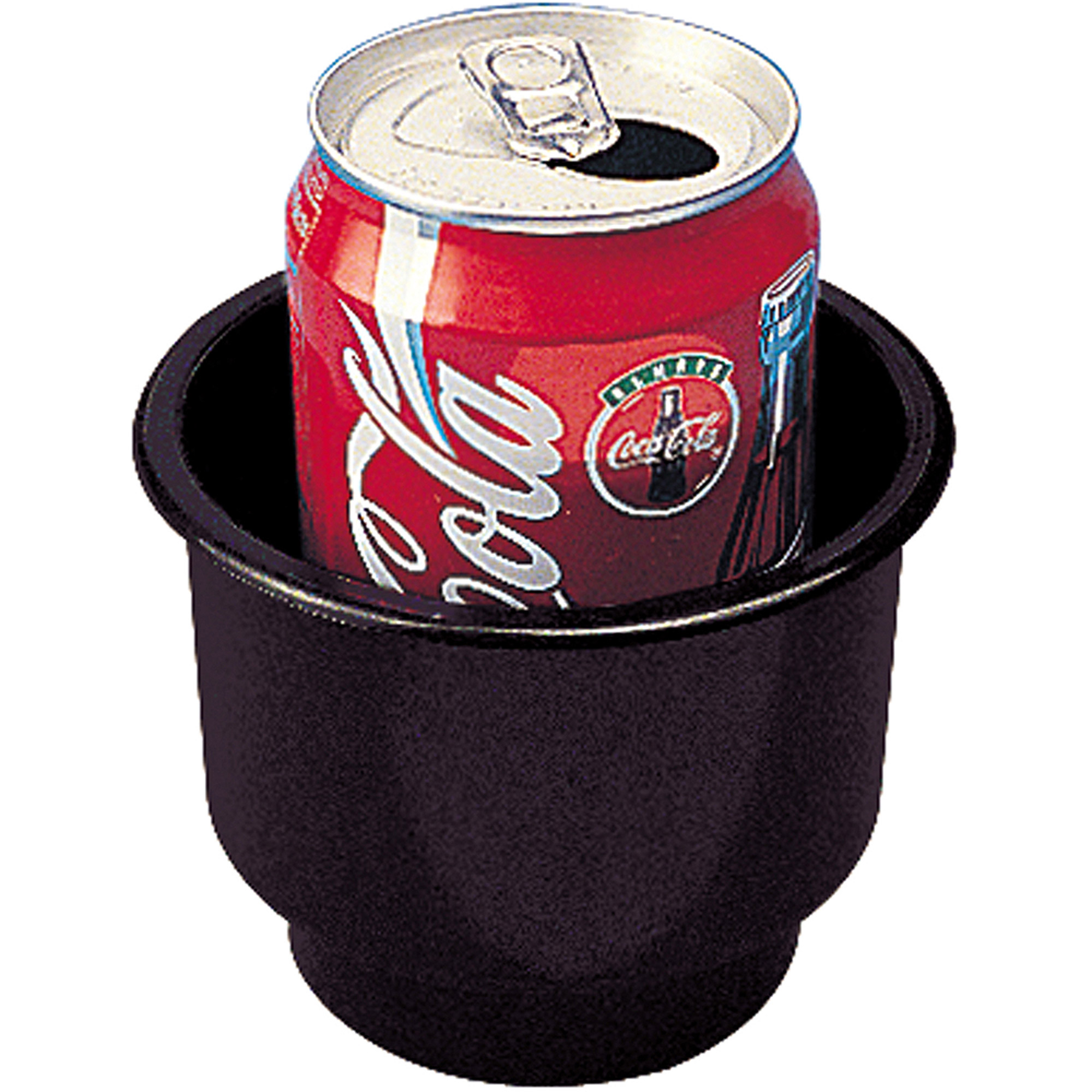"Sea Dog Flush Mount Combo Drink Holder with Drain Holes, 3-1/4"" Deep, Black, 3-3/4"" Hole Required"