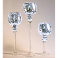 Privilege International Mercury Glass Stem Vase - Set of 3