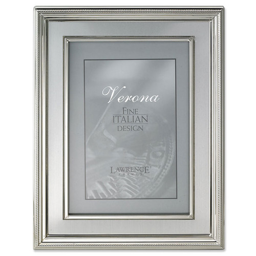 Lawrence Frames Brushed Silver Inner Panel Metal Picture Frame