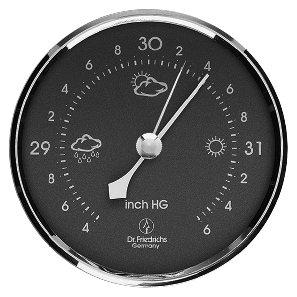 Precision Barometer 3.25 inch Gray Scale by