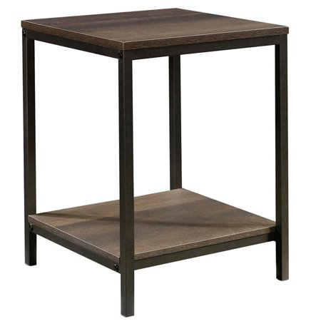 Artisan Oak Rectangular Table (Sauder North Avenue End Table in Smoked Oak and Black )