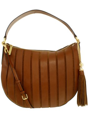 65ffa5b01bfb Product Image Michael Kors Women's Large Brooklyn Applique Convertible  Suede Leather Top-Handle Bag Hobo - Caramel