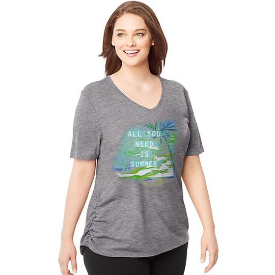e20ea2a0c Just My Size - by Hanes Women's Plus-Size Short-Sleeve V-Neck ...