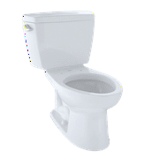 TOTO® Drake® Two-Piece Elongated 1.6 GPF Toilet with CeFiONtect? and Insulated Tank, Cotton White - CST744SGD#01