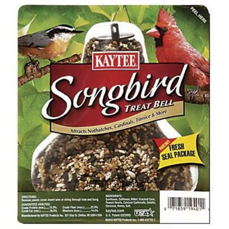 5PK Kaytee 13 OZ Song Bird Bell Barrier Package
