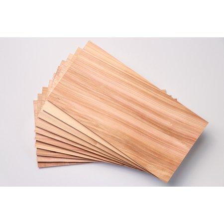 "10 Pack 5 1/2"" x 12"" x 3/8"" Western Red Cedar Premium Grilling Planks"
