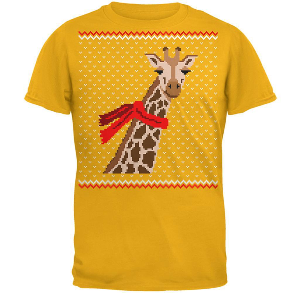 Animal World Big Giraffe Scarf Ugly Christmas Sweater Toddler Hoodie
