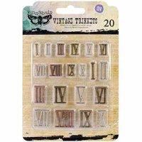 "Sunrise Sunset Mechanicals Metal Vintage Trinkets, Mini Roman Numerals, .5"" To .75"", 20/pkg"