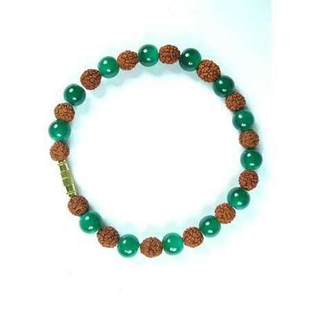 Mogul Yoga Hand Mala Rudraksha Beads Hindu Prayer Malas Bracelet