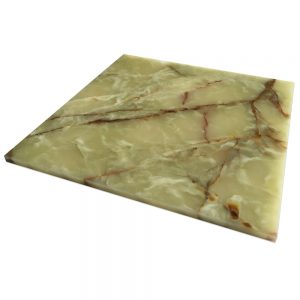 "Multi Green Onyx Tile 12"" x 12"""