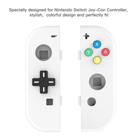 D Pad version Replacement switch housing Case for Nintendo Switch Joy-Con shell game console case (Only Joy con shell White)