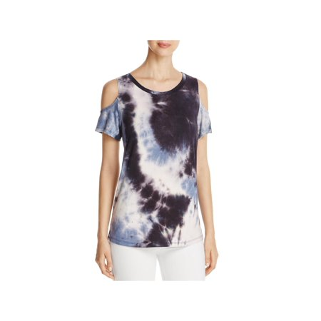 fd904c70932 Alison Andrews - Alison Andrews Womens Tie-Dye Cold Shoulder T-Shirt B/W XS  - Walmart.com
