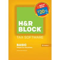 Deals on H&R Block 15 Basic for PC Digital + $20 Walmart GC Refund Bonus