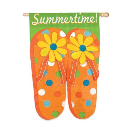 Evergreen Flag Summertime Flip Flops House Flag