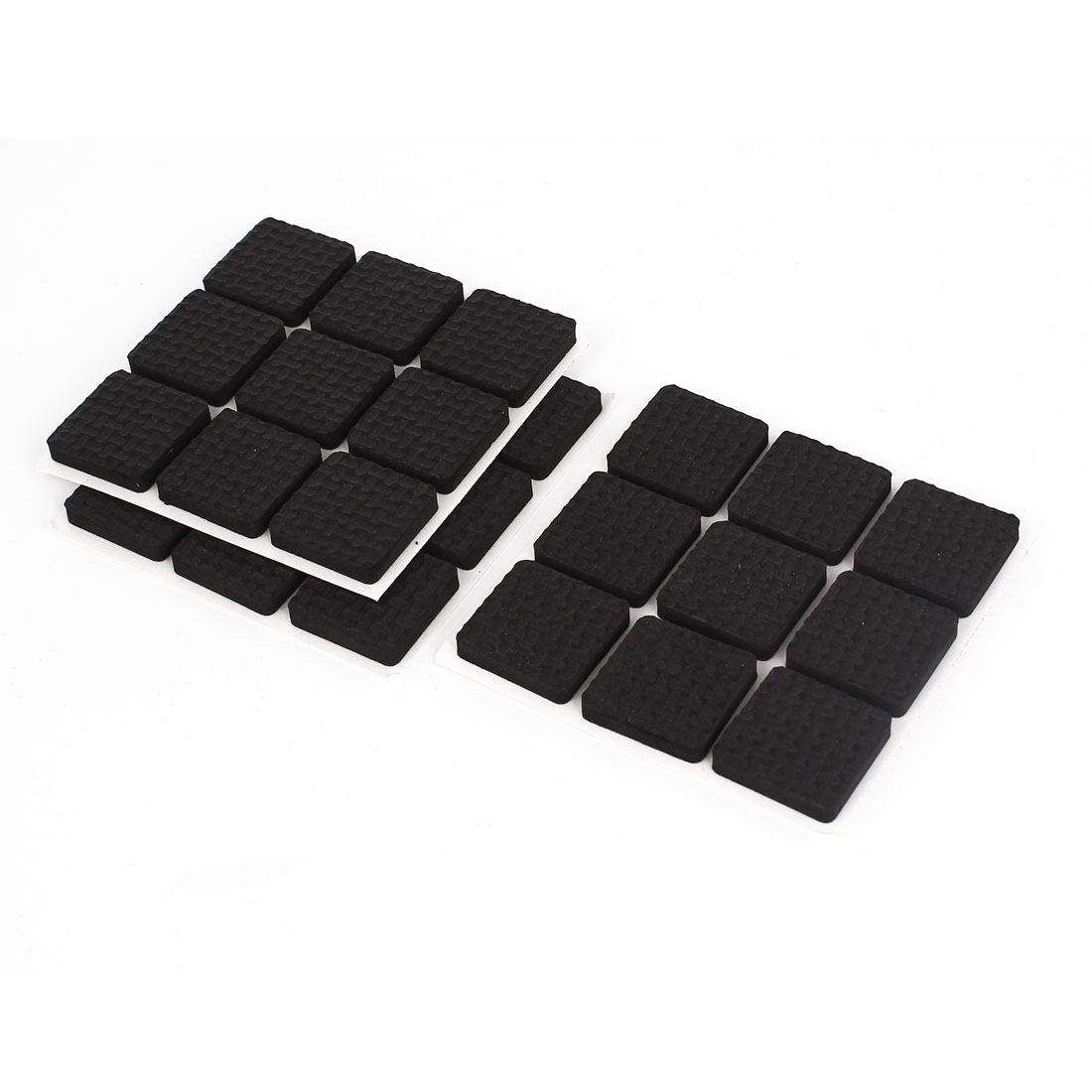 Unique Bargains Furniture Floor Black Square 22mm x 22mm Foam Protection Cushion Pad 27 Pcs