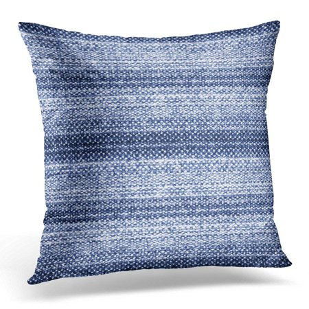 Blue Pillow Cover - CMFUN Throw Pillow Case Cushion Cover Blue Creative Abstract Brushed Striped in Tweed Flecks Navy Flecked Pillow Cover 20x20 Inches