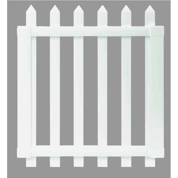 Universal Forest 4' x 41.5 Spaced Picket PVC Gate