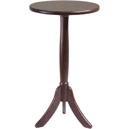 Belmont Pedestal Side Table, Cappuccino Finish