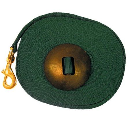 Intrepid International 220376HG 25 ft. Lunge Line with Rubber Stopper, Hunter Green