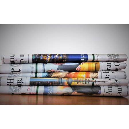 LAMINATED POSTER Newspaper Daily Newspaper Paper Newsprint Poster Print 24 x -