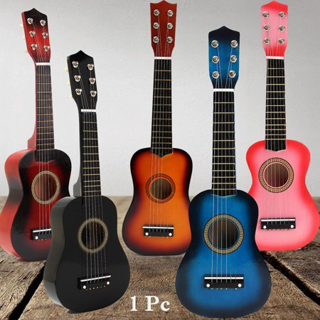 Small Guitar (21-Inch Acoustic Guitar Small Size Portable Wooden Guitar for Kids Beginners)
