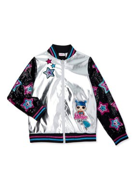 L.O.L. Surprise! Girls 4-14 Sequin Shine Bomber Jacket
