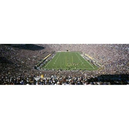 Panoramic Images PPI60335L Aerial view of a football stadium  Notre Dame Stadium  Notre Dame  Indiana  USA Poster Print by Panoramic Images - 36 x 12 - image 1 of 1