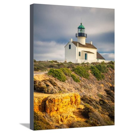 Point Loma Lighthouse in Cabrillo National Park, San Diego Stretched Canvas Print Wall Art By