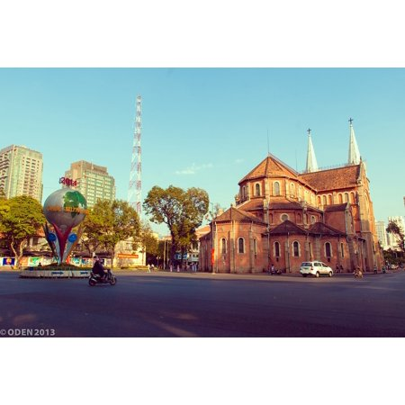 Canvas Print Church Vietnam Beautiful Saigon Ho Chi Minh City Stretched Canvas 10 x 14 (Pictures Of Chi)