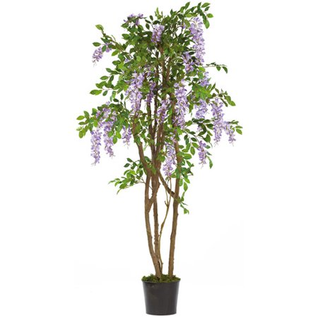 Wisteria Natural Hues Natural - Nearly Natural 5 ft. Wisteria Silk Tree