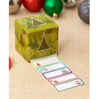 1,000-Pc. Boxed Holiday Gift Tags-Green Tree