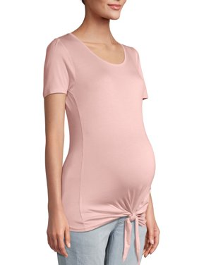 Maternity Oh! Mamma T-shirt with Tie Front and Scoop Neck (Available in Multiple Colors)