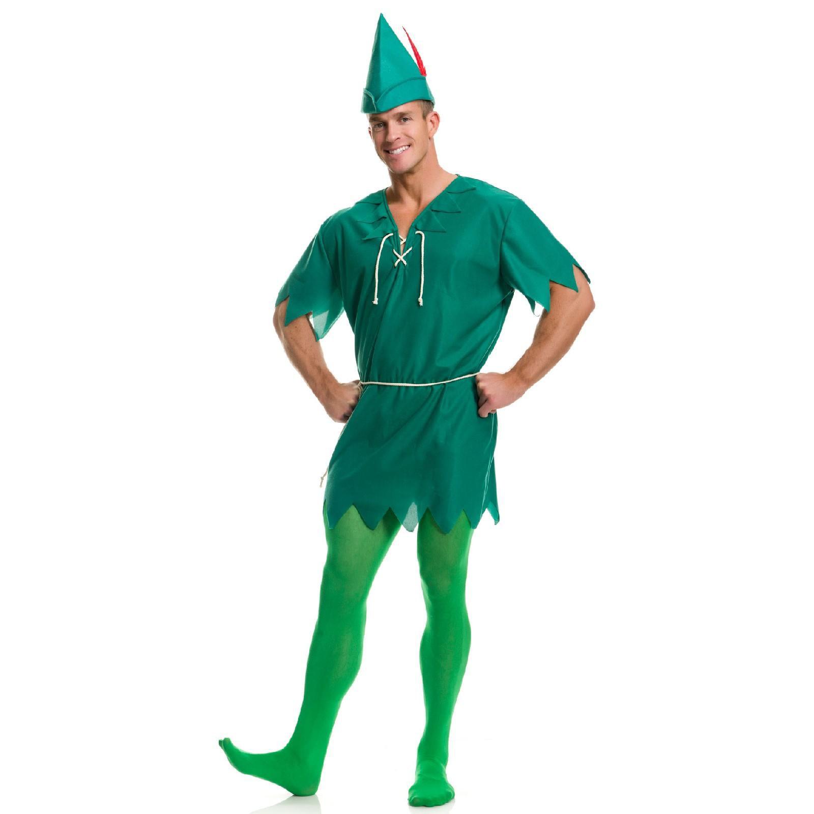 Quesera Unisex Peter Pan Costume Cosplay Peter Pan Tunic Adult Christmas Costume []