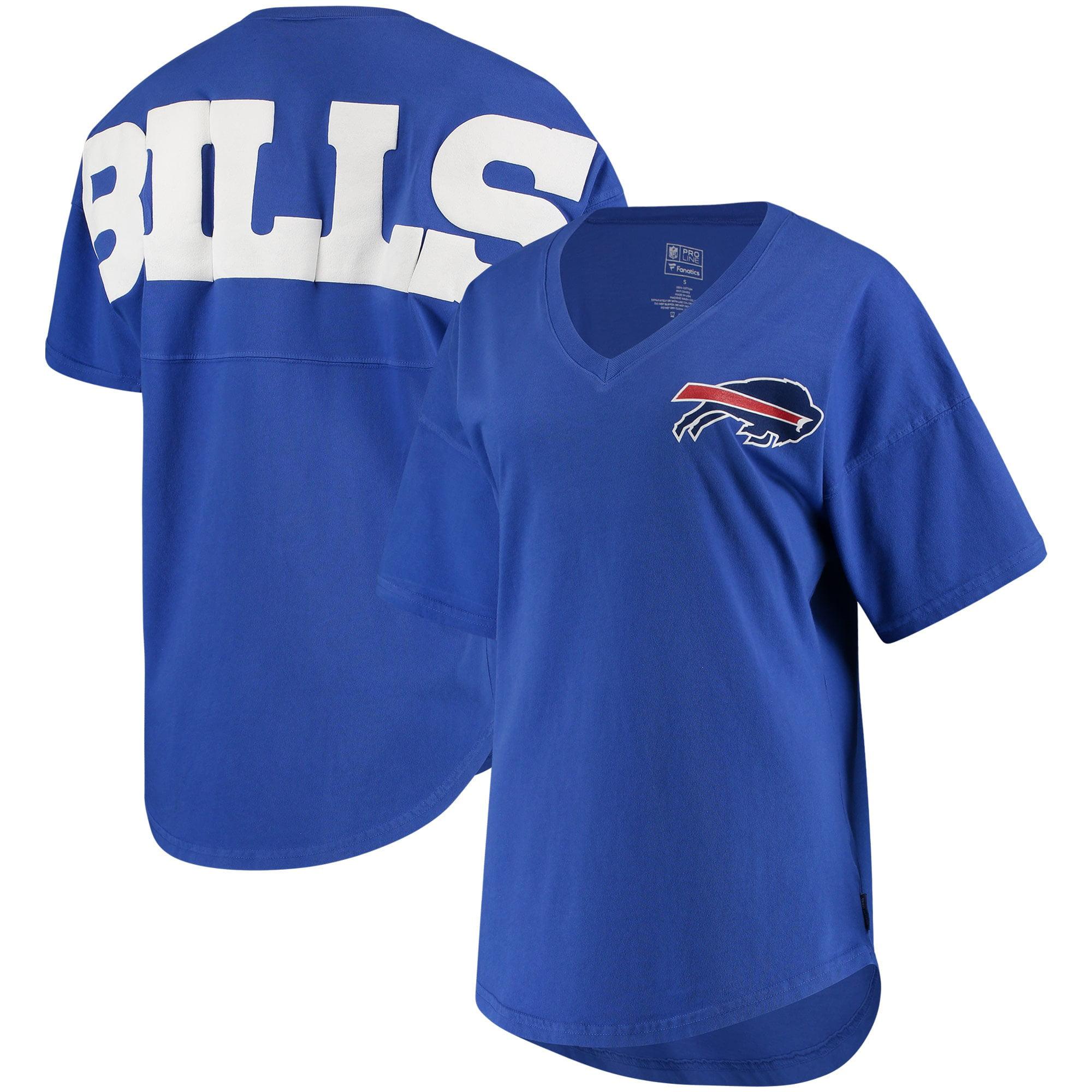 Buffalo Bills NFL Pro Line by Fanatics Branded Women's Spirit Jersey Goal Line V-Neck T-Shirt - Royal - Walmart.com