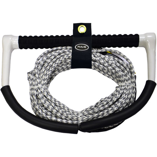 Rave Sport DynemaPoly Blend Wakeboard Ski and Tow Rope with Fuse Grip, Grey