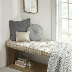 Modrn Circular Velvet Floor Pillow 24 Diameter Mauve Walmart Com Walmart Com