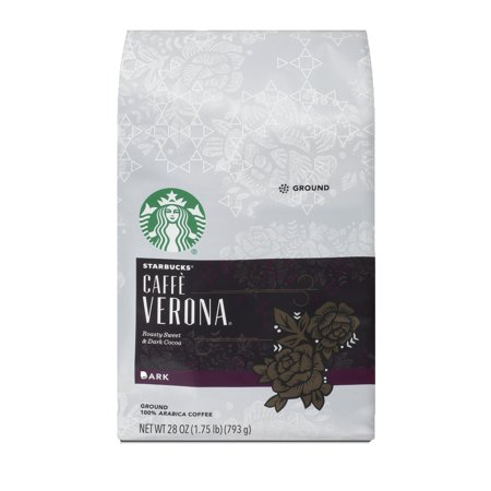 Starbucks Caffe Verona Dark Roast Ground Coffee, 28-ounce