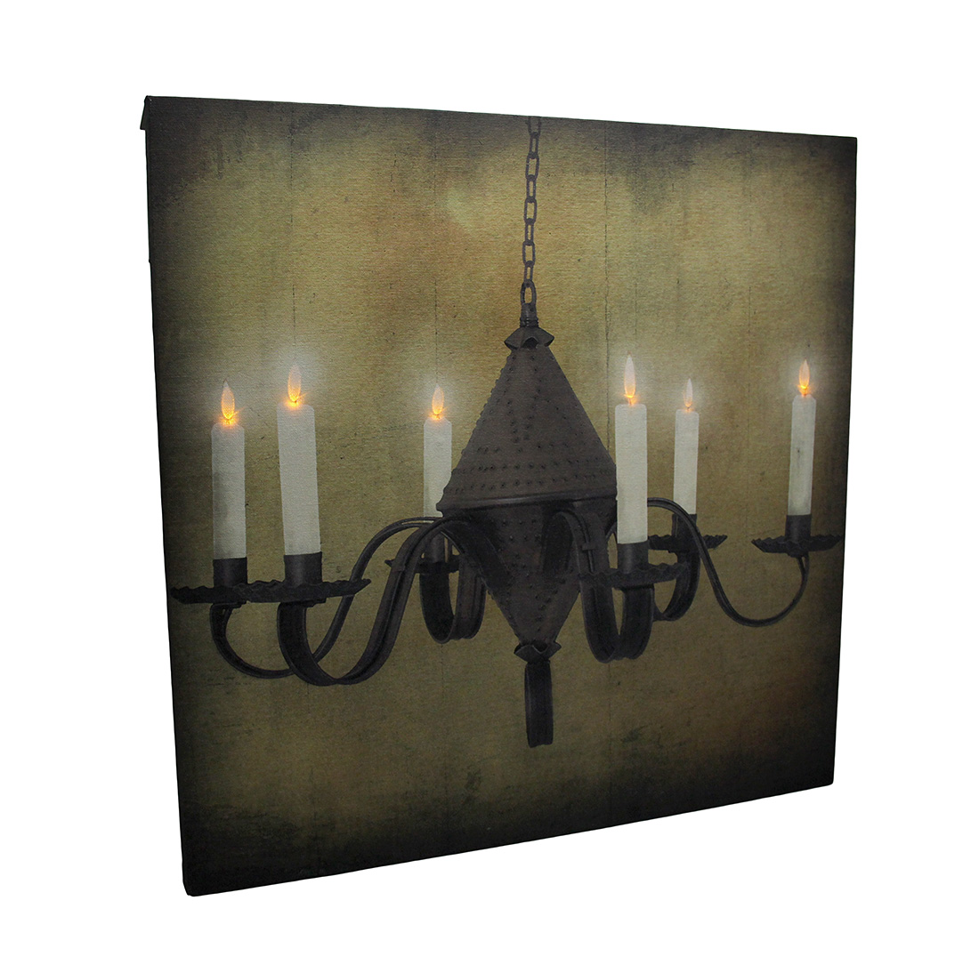 LED Lighted Rustic Hanging Candelabra Canvas Print