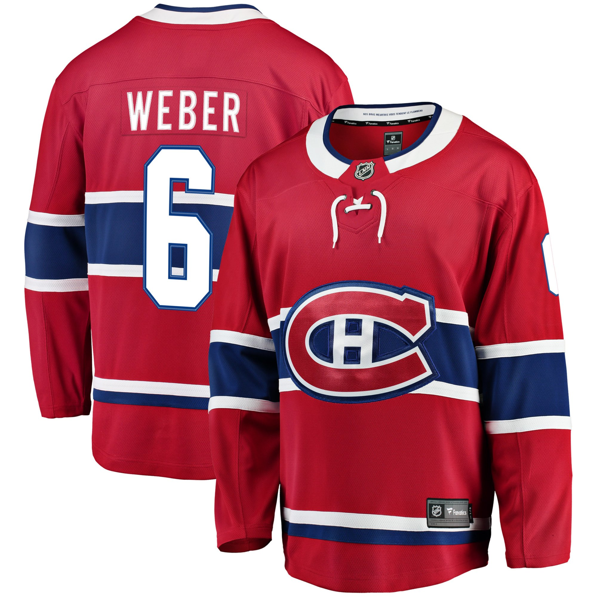 new style b871d 8c592 Shea Weber Montreal Canadiens NHL Fanatics Breakaway Home Jersey