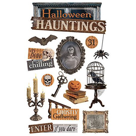 Paper House Productions STDM-0219E 3D Cardstock Stickers, Halloween Hauntings (3-Pack) for $<!---->