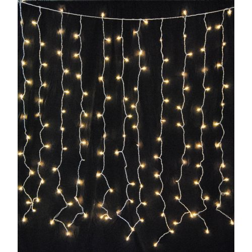 Christmas at Winterland WL-CUR150CL-IN-W 6 Foot Square Clear Mini Light Curtain