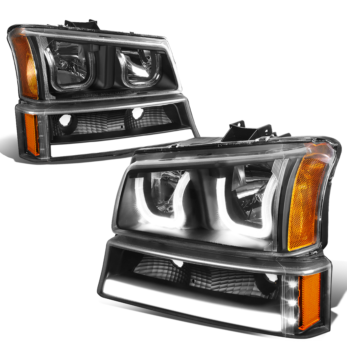 For 03 06 Chevy Silverado Classic Avalanche Led Drl Bar Dual Halo