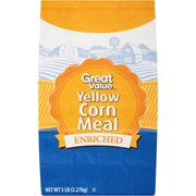 (2 pack) Great Value Enriched Yellow Corn Meal, 5 lbs