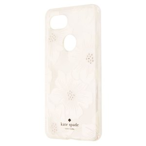 Kate Spade New York Hardshell Case for Google Pixel 2 XL - Clear|White Flowers