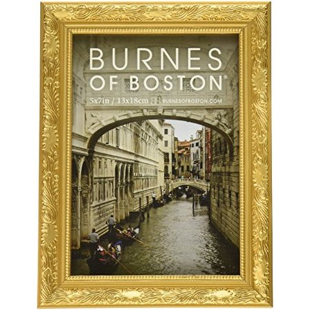 burnes of boston 266457 windsor leaves picture frame, 5-inch by 7-inch, gold