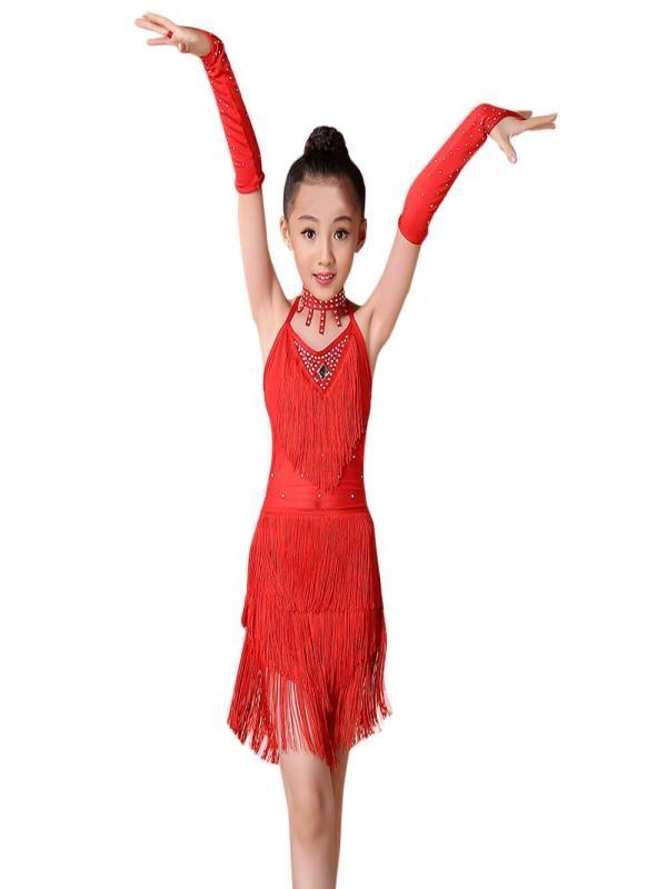 Outtop Toddler Kids Girls Latin Ballet Dress Party Dancewear Ballroom Dance Costumes