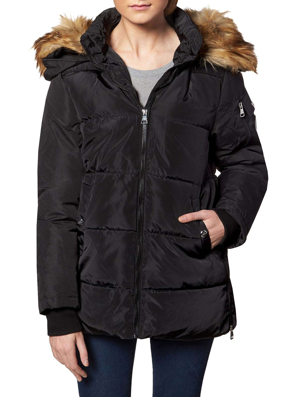 Madden Girl Womens Faux Fur Quilted