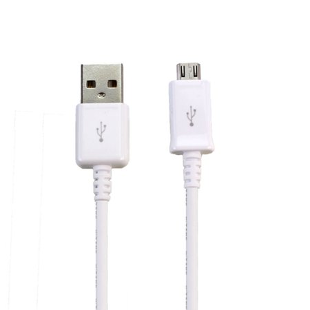 Original Quick Charge Micro USB Charging Data Cable Compatible with Lava A76 Cell Phones 5 FT Non-Retail Packaging - White - image 4 de 9