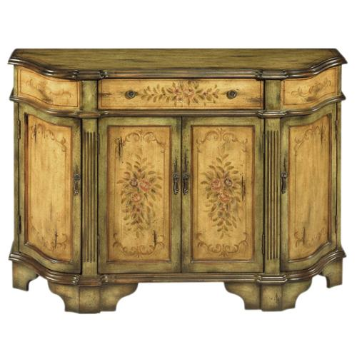 Dover Credenza Dover Antiqued Floral Motif Credenza by Overstock